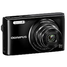 Olympus Stylus VG-180 16-Megapixel 5X 26mm Wide Optical Zoom 2.7 Inch LCD - Black