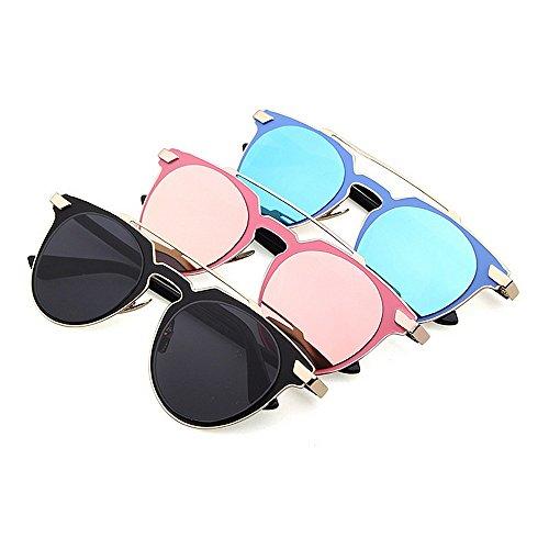 para metálico Plata Ultravioleta Azul del la Gu Color Gafas Sol Clásicas Protección Marco de Peggy Z08qOnwx