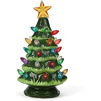 Amazon Com Ceramic Christmas Tree Plastic Light Up Twist Bulbs