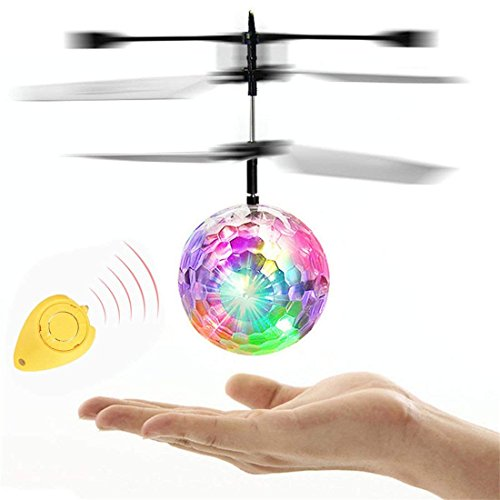 ROTE RC Toy, Mini Infrared Induction Flying Ball, RC Drone Helicopter Ball with LED Flashing Lighting for Kids, Teenagers by ROTE