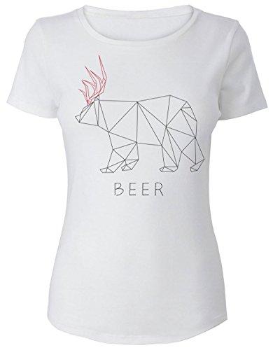 Deer And Bear Hybrid - Beer Funny Design Women's T-Shirt