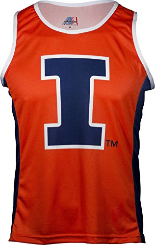 NCAA Illinois Illini RUN/TRI Singlet, Orange, XX-Large