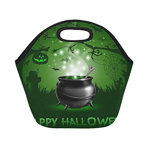Insulated Neoprene Lunch Bag Halloween Night Magic Potion