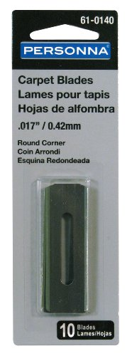 vy Duty 10 Slotted Round Corner Double Edge Carpet Blades (Double Edge Cutter)
