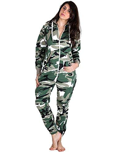 Love My Fashions Women's Teens Army Camouflage Print Onesie