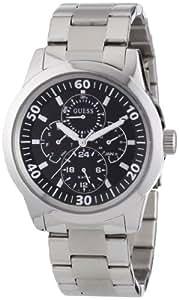 Guess W11562G3 - Reloj analógico de cuarzo para hombre con correa de acero inoxidable, color plateado