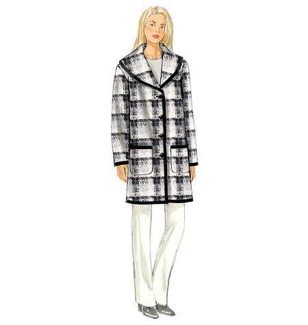 BUTTERICK PATTERNS B6107 Misses' Coat, Size Y