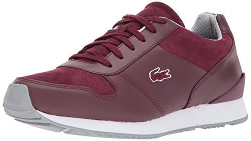Lacoste Men's trajet 417 3 Sneaker, Burgundy, 8 M US
