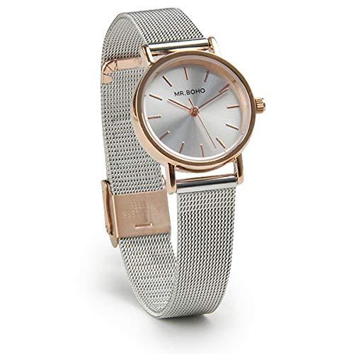 Reloj Mr Boho para Mujer con Correa en Bronce y Pantalla en Blanco 00728653: Amazon.es: Relojes