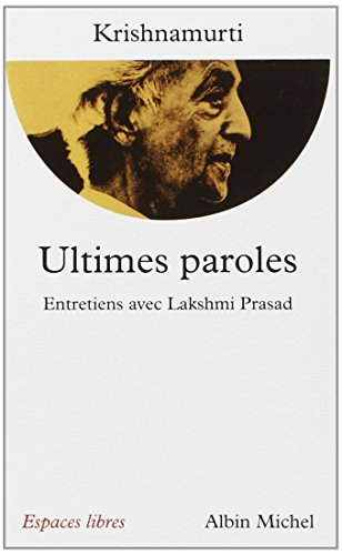 Ultimes Paroles (Collections Spiritualites) (French Edition)