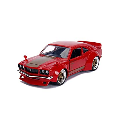 Jada 30718 1:24 JDM - '74 Mazda RX-3, Glossy Red: Toys & Games