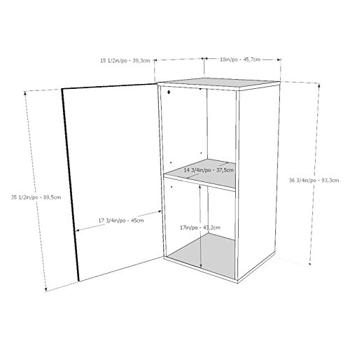 Bookshelves Scratch and Stain-Resistant 1 Drawer Storage Modern White Bookcase - 18W x 14.75D x 36H in. Assembly Required