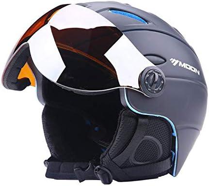 RONGW 自転車 ヘルメット サイクリングヘルメットスキーヘルメットとゴーグルスキースノーボードヘルメット着脱可能偏光メガネバイク自転車道乗馬用品 サイズ調整可能 男女兼用