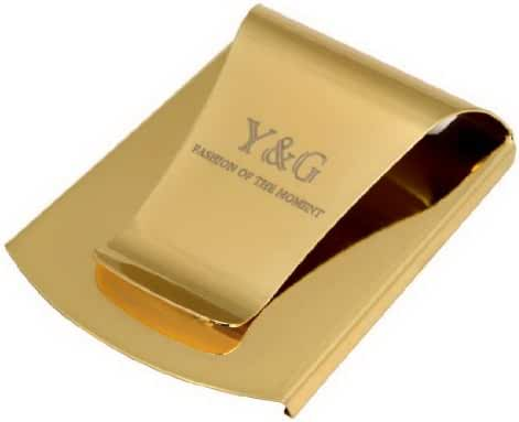 YQA07B Fitted Fabric Fashion Stainless Steel Money Clip Handsome Goods By Y&G
