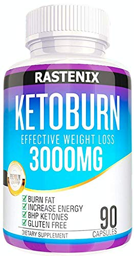 Rastenix Best Keto Pills - 3X Potent (3000mg | 90 Capsules) - Weight Loss Keto Burn Diet Pills - Boost Energy and Metabolism - Exogenous Keto BHB Supplement for Women and Men - 90 Capsules (The Best Weight Loss Pills 2019)