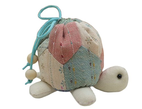 Turtle Pouch Bag Creative Craft Kit Sewing for Beginner (Pink)