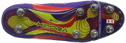 Kooga Rugby - Botas de rugby para hombre Morado / Multicolor (Purple/Multi)