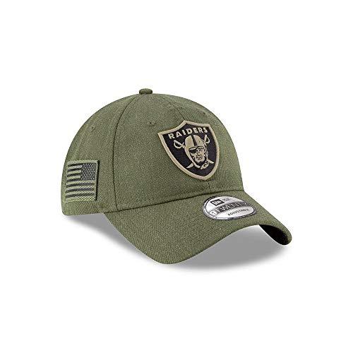 New Era Mens NFL 2018 Salute to Service 9Twenty Strapback Hat (Oakland Raiders)