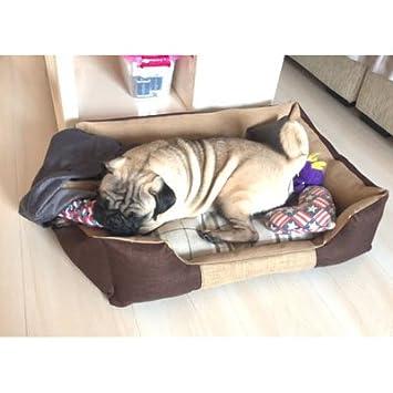 Cama para Perros Alfombra para Gatos Cama para Gatos Nido para Mascotas Respirable Lavable En Frío Suave Perro Mediano Y Pequeño Cuatro Estaciones Alfombra ...