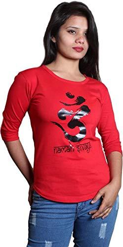 Himgiri International Printed Women Round Neck Red T Shirt