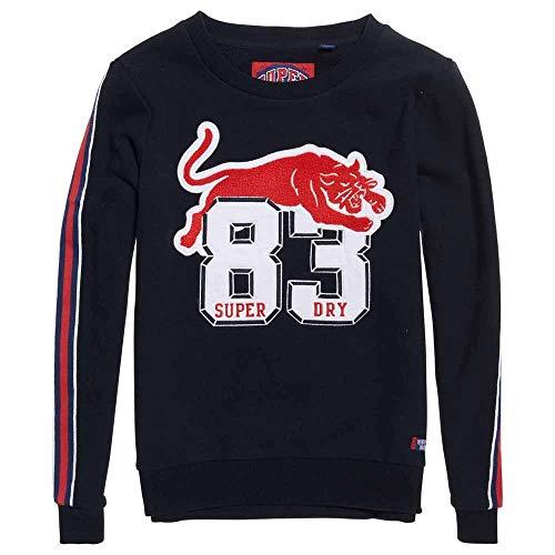 Navy Hoodies Crew Emilie Applique Xl Eclipse Superdry Sweatshirts And Female XEqwx81x