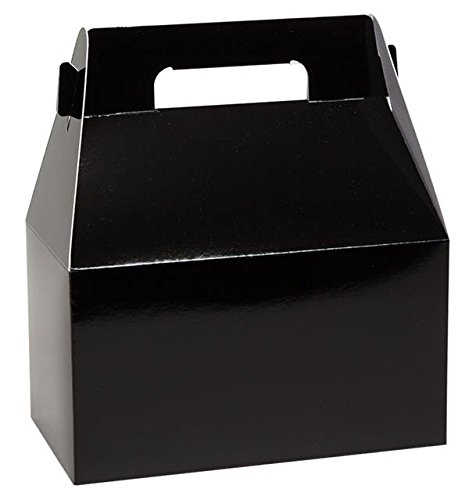 Gable Boxes, X-Large 9x5x10 Size, Set of 6 (Gloss Black)
