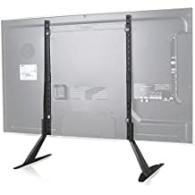 """WALI Universal TV Stand Table Top for Most 22""""-65"""" LCD Flat Screen TV, VESA up to 800 x 400mm (TVS001), Black"""