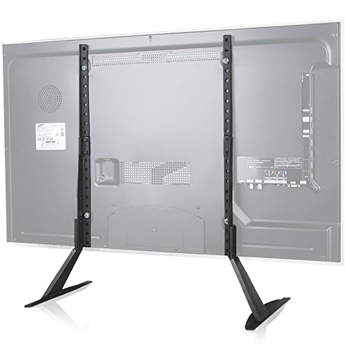 """WALI TV Stand Table Top for Most 22""""-65"""" LCD Flat Screen TV, VESA up to 800 x 400mm (TVS001), Black by WALI"""