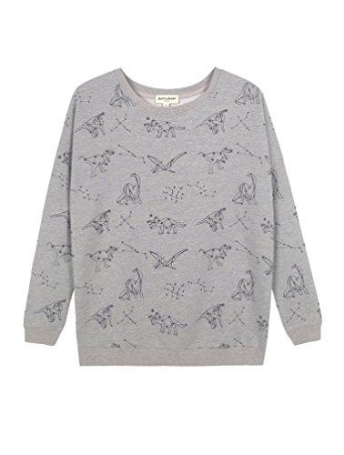 LaVieLente Women's Long Sleeve Pullover/Sweatshirt with Original Graphic Designs