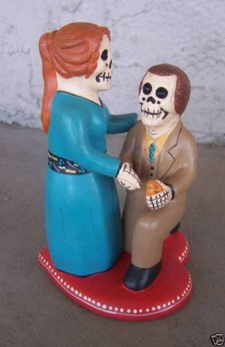 Dia de los Muertos Day of the Dead Skeleton Wedding Couple Proposal - Peru