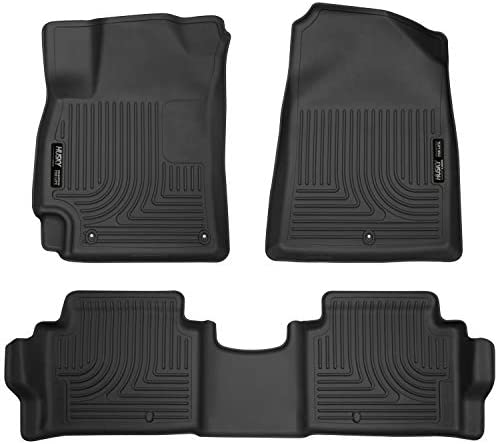 Husky Liners 98871 Black Weatherbeater Front & 2nd Seat Floor Liners Fits 2017-2019 Hyundai Elantra