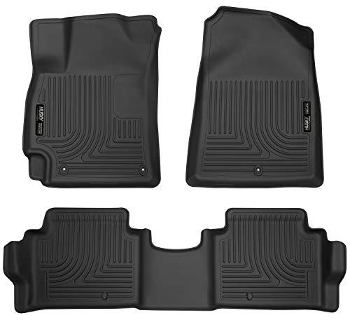 Husky Liners 98871 Black Weatherbeater Front & 2nd Seat Floor Mats Fits 2017-19 Hyundai Elantra