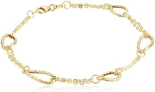 10k Yellow Gold Multi-Link Bracelet, 7.5