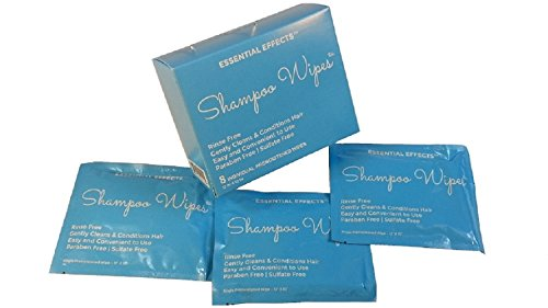 (Essential Effects Shampoo Wipes (8) for rinse free hair cleansing)