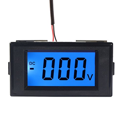 DROK Digital DC 12V Ammeter Panel Amp Meter Gauge DC 0-+//-50A Current Tester AC//DC 8-12V Current Monitor with Blue Back-Light Black Font for Automotive Vehicle