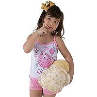 Baby Doll Infantil Rosa Estampa Ovelhinha
