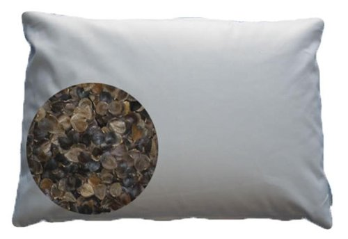 Beans72 Organic Buckwheat Pillow - Queen Size (20 inches x 30 inches)