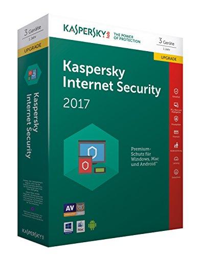 Kaspersky Internet Security 2017 3 Geräte - Upgrade [Online Code]