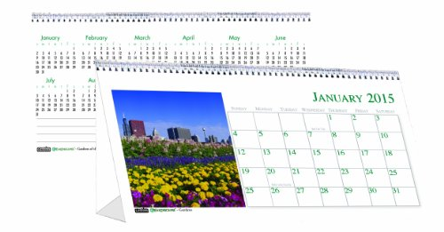 House of Doolittle 309 Garden Photos Desk Tent Monthly Calendar, 8-1/2 x 4-1/2, 2016