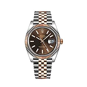 Best Epic Trends 41K1Ir%2BBG1L._SS300_ Rolex Datejust Chocolate Dial Steel and 18K Everose Gold Jubilee Men's Watch 126331CHSJ