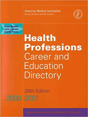 Book Health Professions Career and Education Directory, 2000-2001