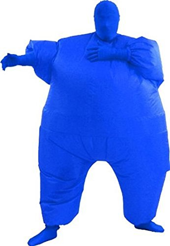 Chub Suit Inflatable Blow up Full Body Jumpsuit Costume (Blue)