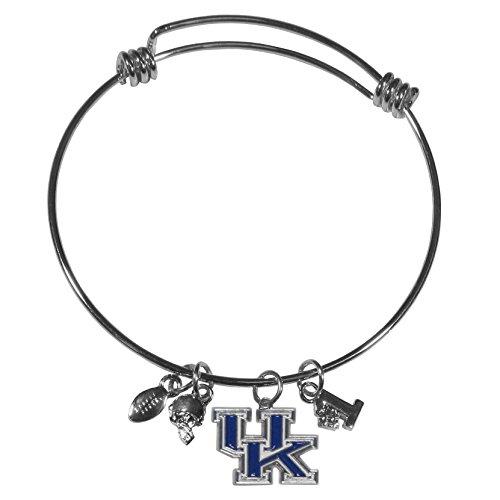 Siskiyou NCAA Kentucky Wildcats Womens Charm Bangle Bracelet