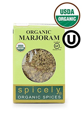 SPICELY Organic Whole Marjoram, 0.1 OZ