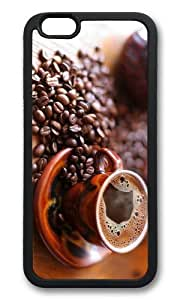 MOKSHOP Adorable hot black coffee Soft Case Protective Shell Cell Phone Cover For Apple Iphone 6 (4.7 Inch) - TPU Black