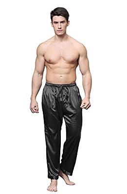 Tony & Candice Men's Satin Pajama Pants Long PJ Bottoms