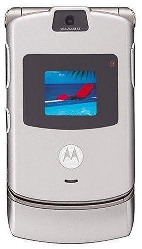 amazon com motorola razr v3 silver phone at t cell phones rh amazon com Motorola RAZR Motorola V3i