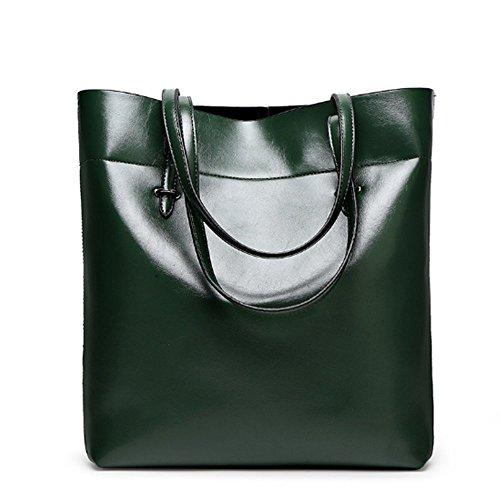 Eysee - Cartera de mano para mujer Negro marrón 30cm*35cm*12.5cm verde