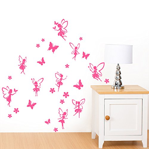 Fairies With Butterflies And Flowers Small Wall Sticker Pack   Cut U0026 Place  30 Individual Stickers Part 52