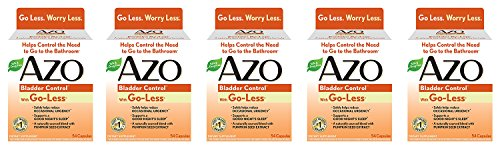 AZO Bladder Control WnFiT Supplement - 54 Count (5 Pack) ...